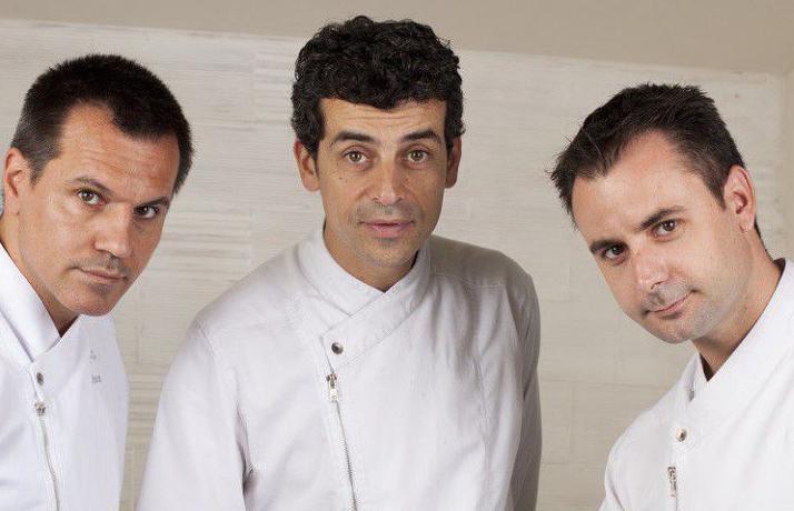 Prima di aprire Disfrutar e Compartir, Oriol Castro(a sinistra, con i sociCasañas, al centro,eXatruch) ha lavorato per 15 anni al Bulli di Ferran e Albert Adrià, dal 1996 alla chiusura dell'insegna nel 2011