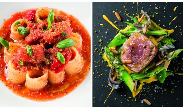 """Due piatti celebri di Provenzani: Paccheri triplo pomodoro e il """"suo"""" vitello tonnato"""
