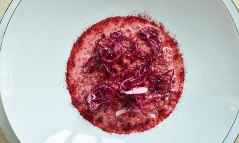 Rapotto di chioggia, cartizze e cavolo rosso affumicato: il piatto dell'autunno di Davide Bisetto