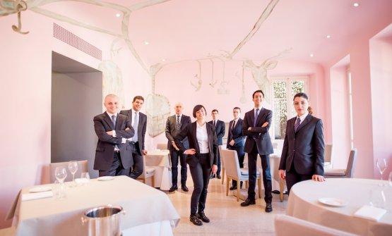 La squadra di sala del Piazza Duomo, squadra capitanata da Vincenzo Donatiello, il primo sulla sinistra