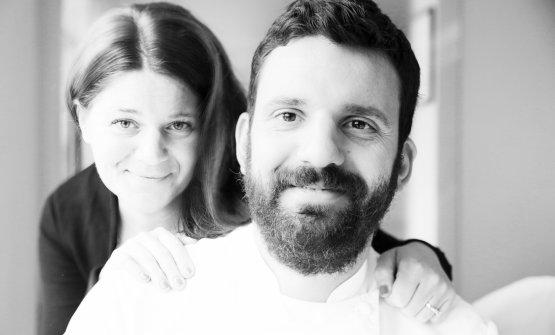 Lo chef Piergiorgio Siviero con la sorella Daniela, che sta in sala
