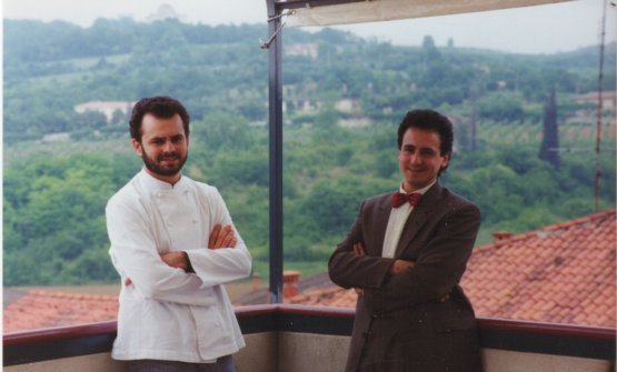 Nicola and Pierluigi Portinari in a photo from the debut, almost, in 1988