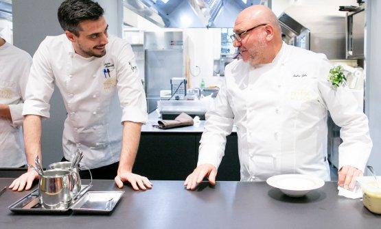 Zito e il resident chef di Identità Golose Milano, Simone Maurelli