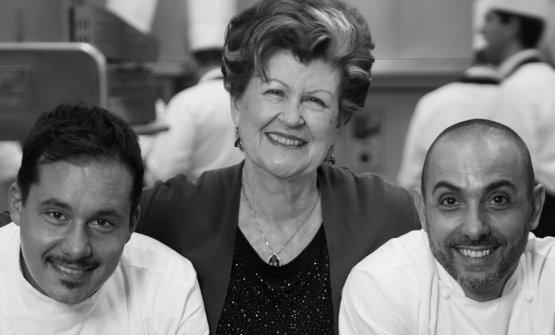Annie Féolde con Riccardo Monco e Alessandro Della Tommasina