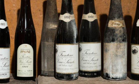 La collezione storica di Vino Santo del Trentino dell'azienda Pisoni