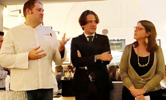 Francesco Salvo, Nicola Roni e Luciana Squadrilli alla serata organizzata dallo Champagne Bureau a Napoli