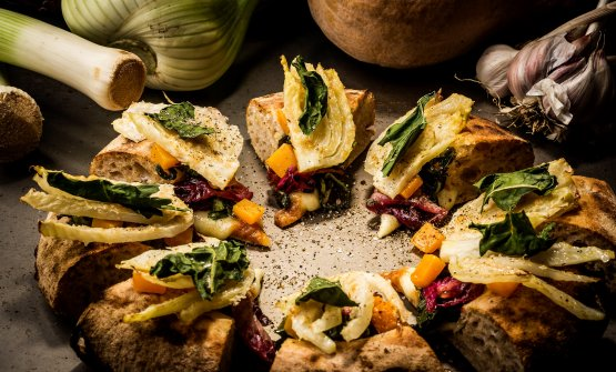 Una pizza di Davide Fiorentini. Saranno disponibili anche all'Officina Design Cafè by Chic - Charming Italian Chef nel nuovo ADI Design Museum di Milano