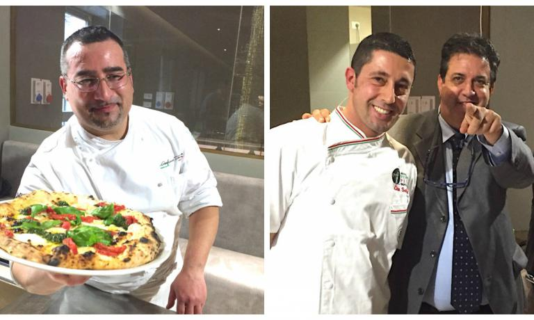 Maestri pizzaioli campani: Gianfranco Iervolino e Ciro Salvo (con Luciano Pignataro)