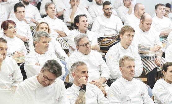 Tutti attenti in platea durante le lezioni di PizzaUp. Foto di Carlo Baroni