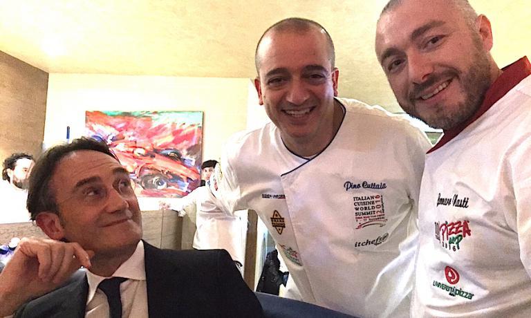 Piero Gabrieli, Pino Cuttaia e Gennaro Nasti a Dubai per PizzaUp 2016