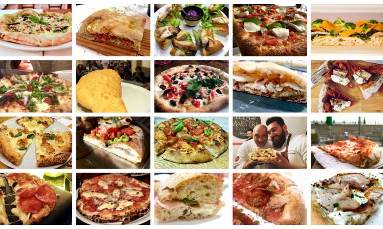Tania Mauri e Luciana Squadrilli, ovvero due super-esperte di pizza, ci guidano in un percorso tra le venti migliori da loro assaggiate durantre l'anno da poco conclusosi. Grandi maestri e giovani allievi, in una carrellata golosa come non mai...