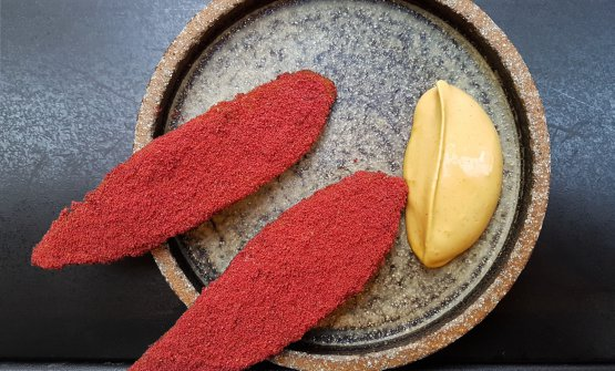 Plantain, raspberry and smoked Scotch Bonnet (photo Clerkenwell Boy)