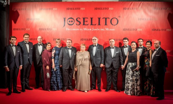 A group photo with the Gómez family during a recent celebration for the 150th anniversary of Joselito
