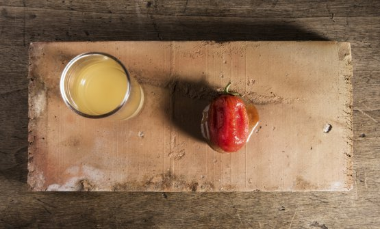 Pomodoro, mela e limone: il piatto dell'estate di Caterina Ceraudo,chef diDattilo, il ristorante gestito dalla sua famiglia che si trovaa Strongoli in provincia di Crotone