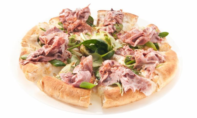 La pizza Elogio al maiale di Roberto Pongolini de