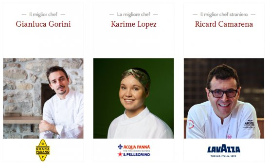 Gianluca Gorini, Karime Lopez and Ricard Camarena, 3 of this year's awarded chefs