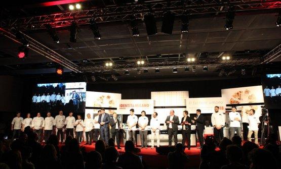 I finalisti italiani del concorso sul palco