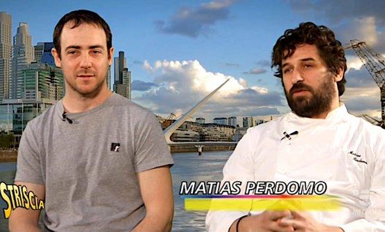 A sinistra Simon Press e a destra Matias Perdomo, il primo argentino e il secondo uruguagio, entrambi trapiantati a Milano dove sono chef e titolari del ristorante Contraste a Milano
