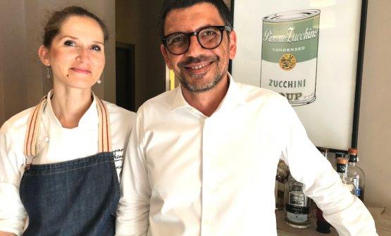 Annalisa Presta, chef, e Giuseppe Ferraro, il socio in sala