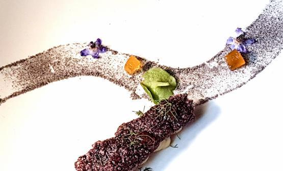 Il Nero Gioiellodi Fabio Vaccadel ristorante delRelais Villa del Golfodi Cannigione in Sardegna