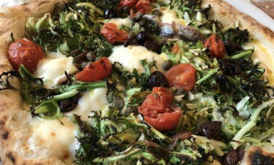 Una delle buonissime pizze di Pummà a Milano, la
