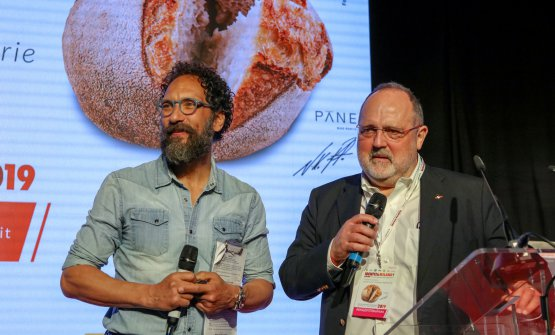 Paolo Marchi sul palco con Federico Quaranta