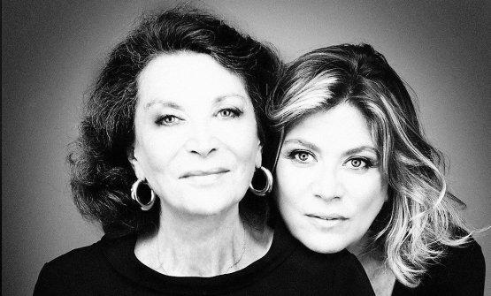 La stilista Lella Curiel con la figlia Gigliola (fotobuongiornoonline.it)