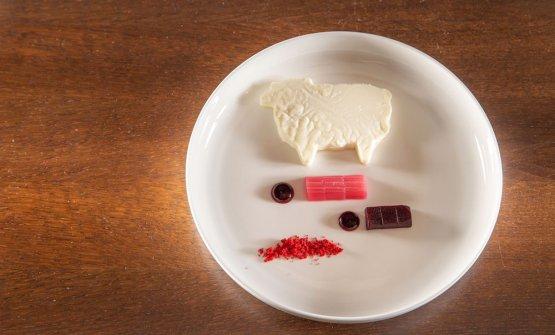 Rapa rossa, rabarbaro e latte di pecora, uno dei p