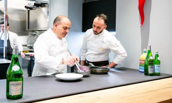 Caputo con il resident chef di Identità Golose Milano, Alessandro Rinaldi