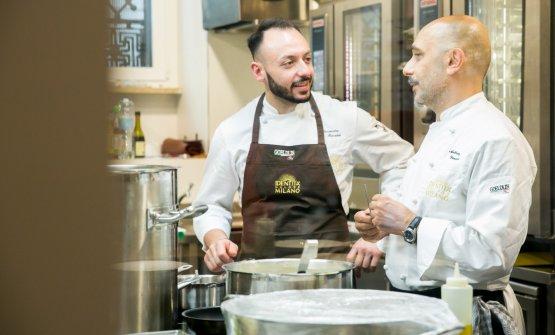 Genovese con il resident chef di Identità Golose Milano, Alessandro Rinaldi