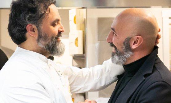 Con il coordinatore della cucina di Identità Golose Milano, Andrea Ribaldone