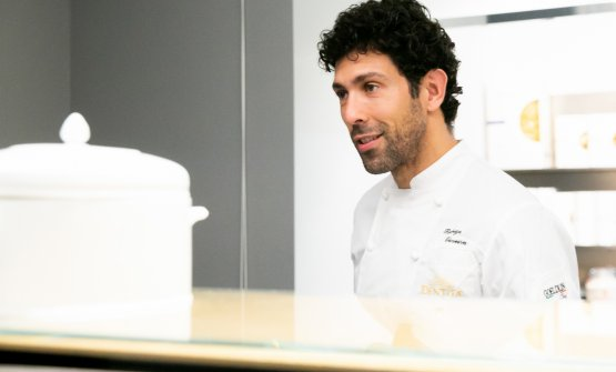 The chef from Mocotò in Sao Paulo in Milan