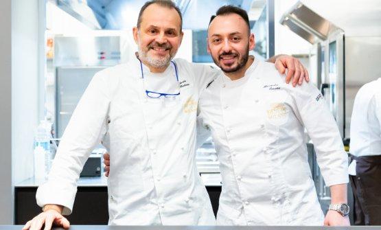 Nicola Portinari con Alessandro Rinaldi, executive chef di Identità Golose Milano