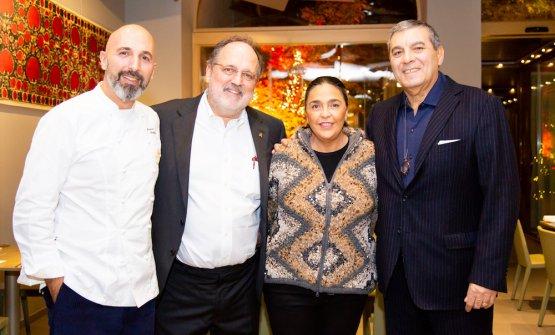 Andrea Ribaldone, Paolo Marchi,Paola Jovinelli andClaudio Ceroni