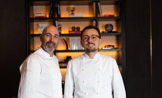 Andrea Ribaldone e Federico Sgorbini, del ristoran