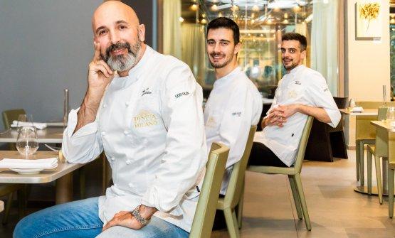 Ribaldone conEdoardo Traverso e Simone Maurelli, rispettivamente sous chef e resident chef di Identità Golose Milano