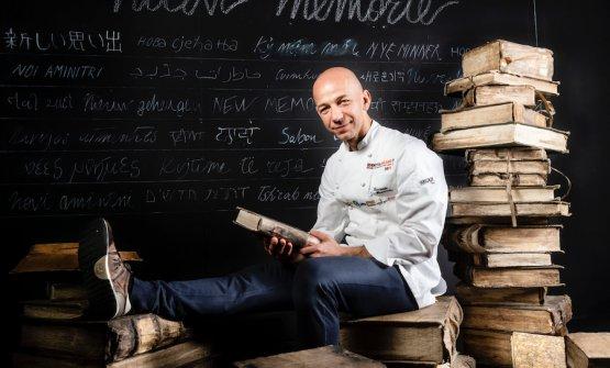 Riccardo Camanini, chef and patron atLido 84in Gardone Riviera (Brescia)