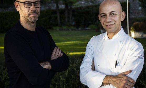 Giancarlo e Riccardo Camanini, maître e chef del ristorante (foto Lido Vannucchi)
