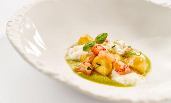 Ricotta e piselli, uno dei piatti in menu all'Harry's Bistro di Trieste, insegna più informale dell'Harry's Piccolo, allo stesso indirizzo, una stella Michelin