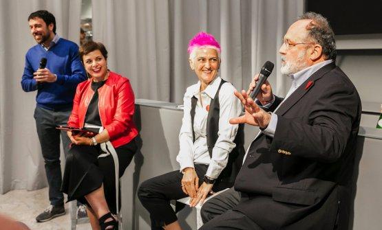 Francesca Romana Barberini, moderatrice dell'incontro, Cristina Bowerman e Paolo Marchi