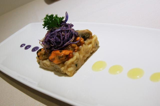 Riso patate e cozze di Leonardo Lacatenadell'Osteria dei Sassi di Matera, altro piatto tra i primi 50 del Premio Birra Moretti Grand Cru 2013