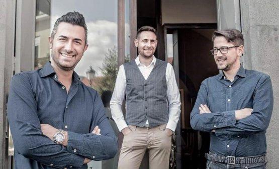 La famiglia Rispoli, Vincenzo, Marco e Alessandro, proprietaridel ristorante omonimo