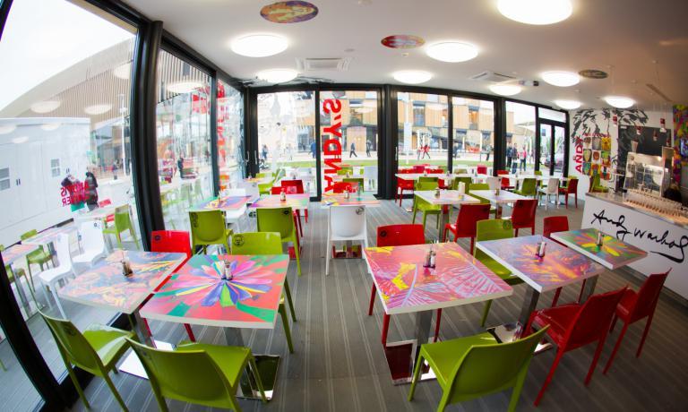 Restaurant Andy Warhol inside the Slovakian pavilion