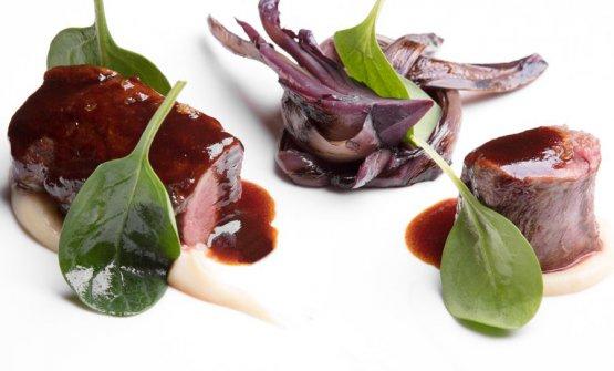Uno dei piatti di Alessandro Martellini all'Hotel Tyrol