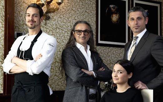 Lo staff: primo a sinistralo chef Samuele Silvestri, al suo fianco il patron GPCremonini (foto Maffione)
