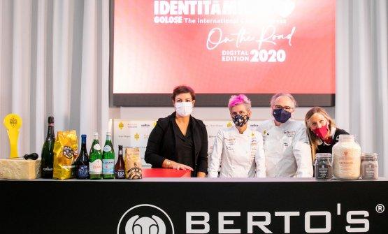 Cristina Bowerman e Marco Sacco con Francesca Roma