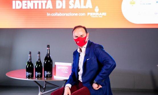 Matteo Lunelli durante le registrazioni di Identit