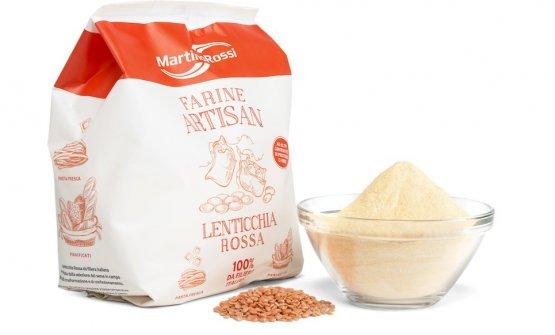 La farina di lenticchie rosseMolino Martino Ross