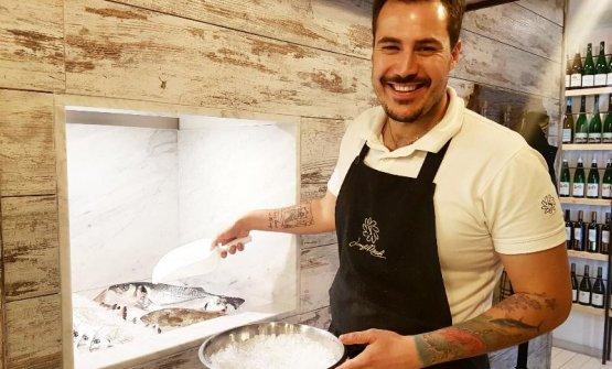 Joseph Micieli, chef delloScjabica - cuoco pesca