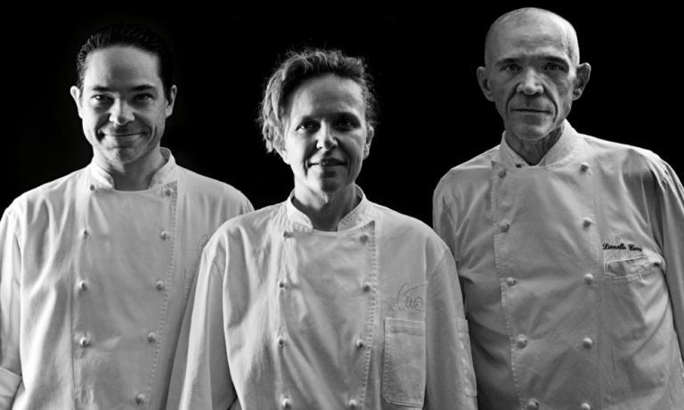 I tre fratelli Cera: da sinistra, Daniele, Lorena e Lionello